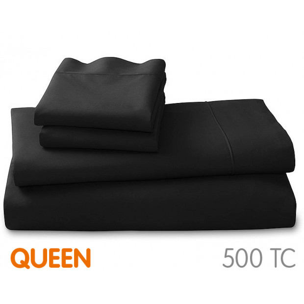 500tc Cotton Queen Sheet Set