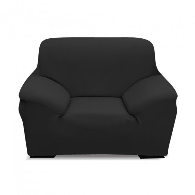 Easy Fit Stretch 2 Seater Black Couch Sofa Slipcover Washable