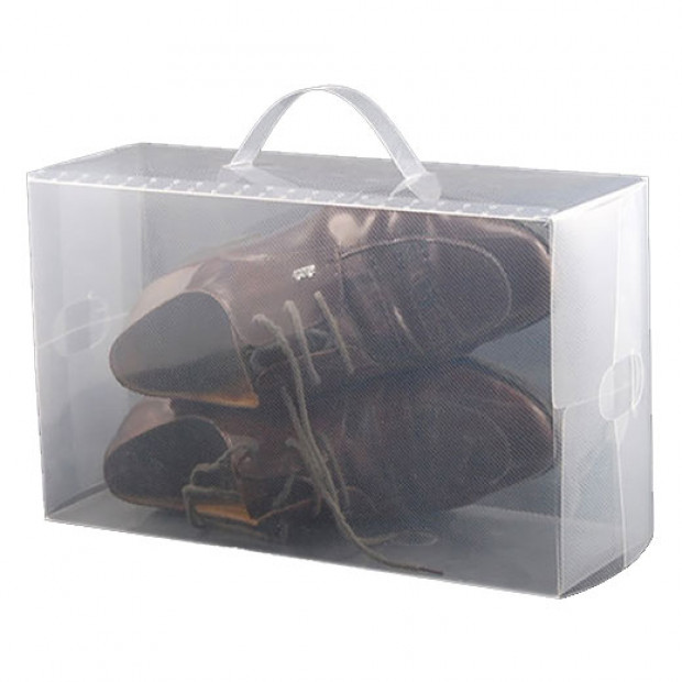 10 Clear plastic boot storage boxes
