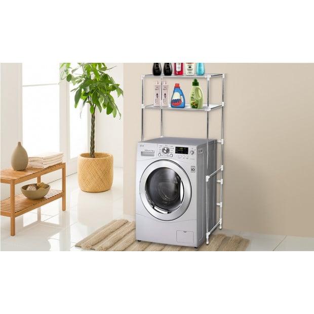2 Tier Over Laundry Washing Machine Storage Rack