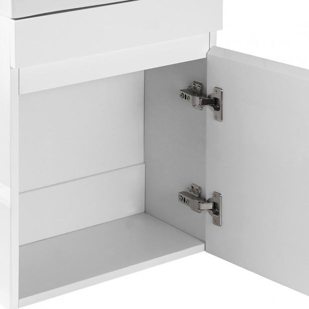 Bathroom Vanity Ceramic Basin Sink Cabinet Wall Hung White Image 4