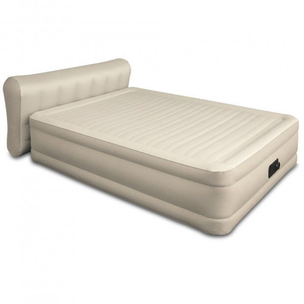 Queen Air Bed Inflatable Home Blow Up Mattress Built-in Pump