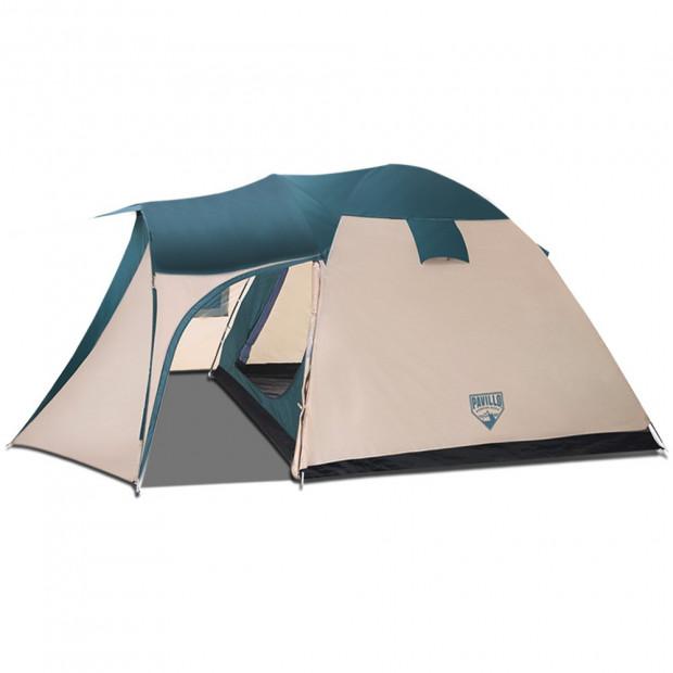 8 Person Camping Dome Tent - Green & Cream White