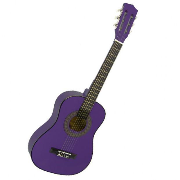 Childrens no-cut acoustic guitar - Purple