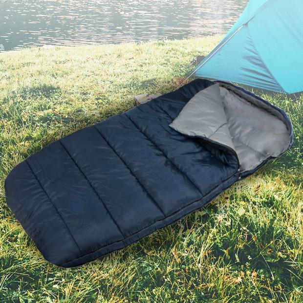 Wallaroo Camping Sleeping Bag Thermal Hiking - 220 x 100 - Left Zipper