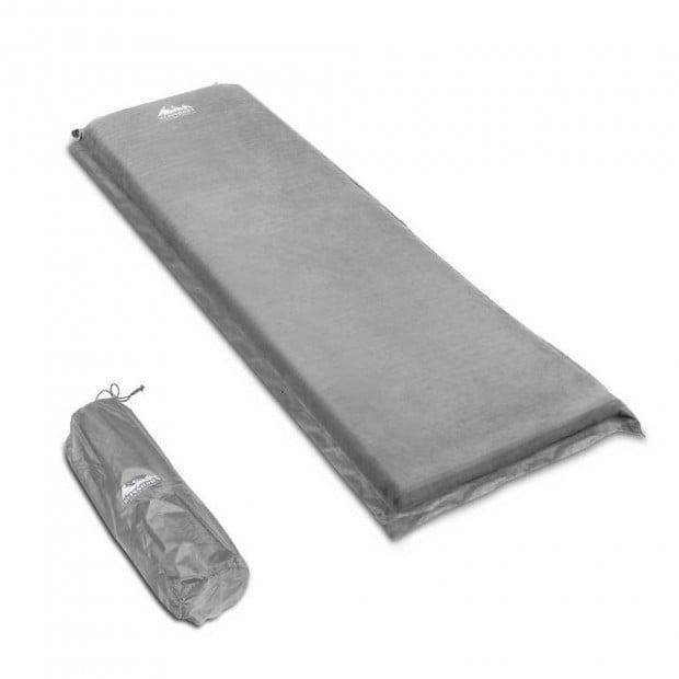 Self Inflating Mattress Single 10cm Grey