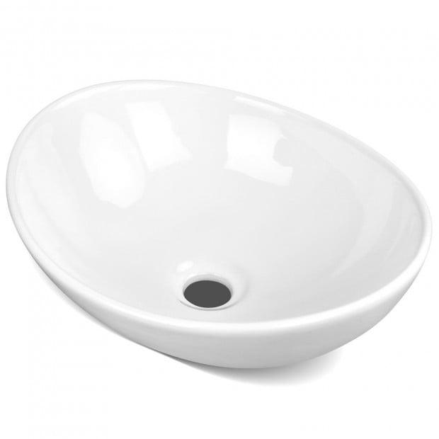 Ceramic Sink Round White 410 x 340