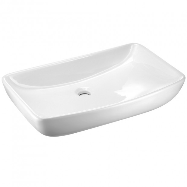 Ceramic Rectangle Sink Bowl - White