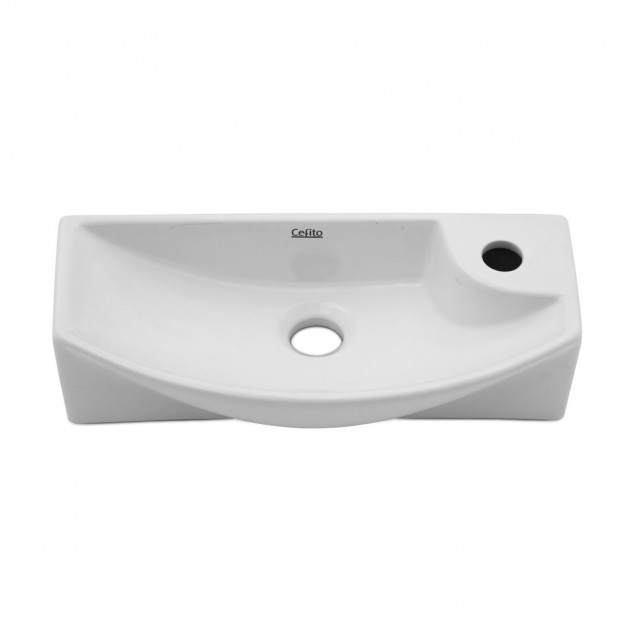 Ceramic Basin Bathroom 45 x 23cm White Image 2