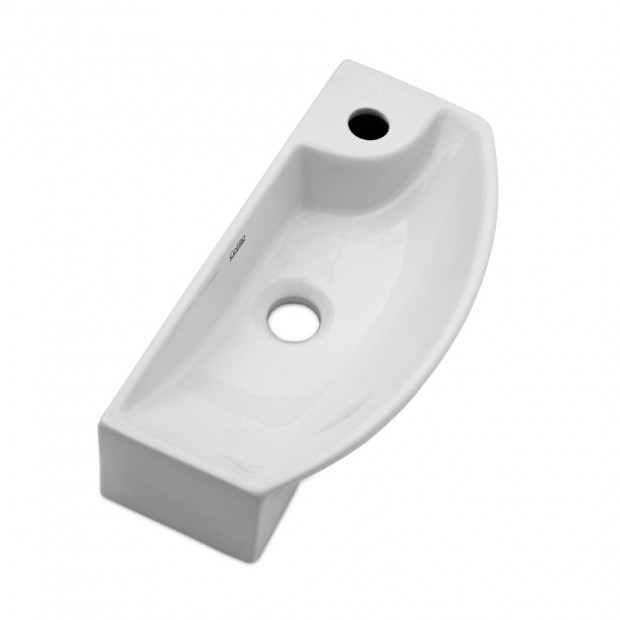 Ceramic Basin Bathroom 45 x 23cm White Image 3