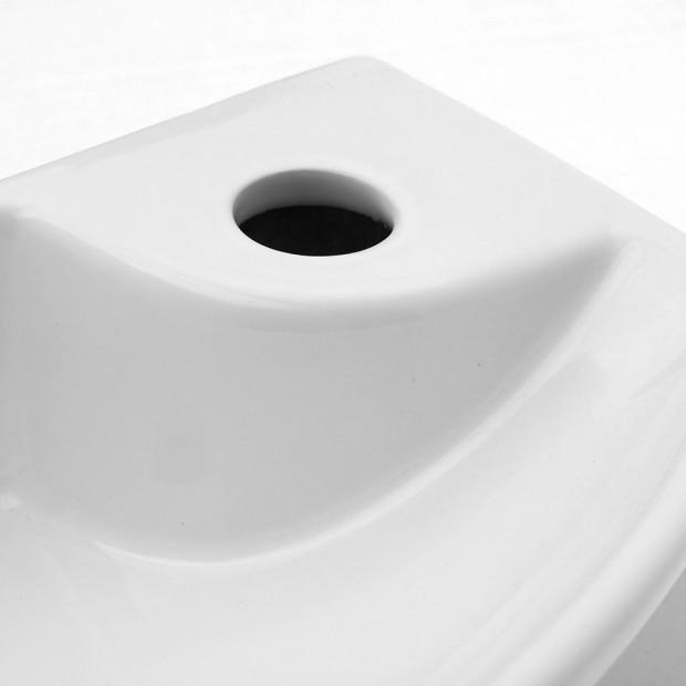 Ceramic Basin Bathroom 45 x 23cm White Image 5