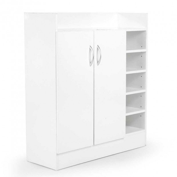 21 Pairs Shoe Rack Organiser - 80 x 30 x 90cm - White