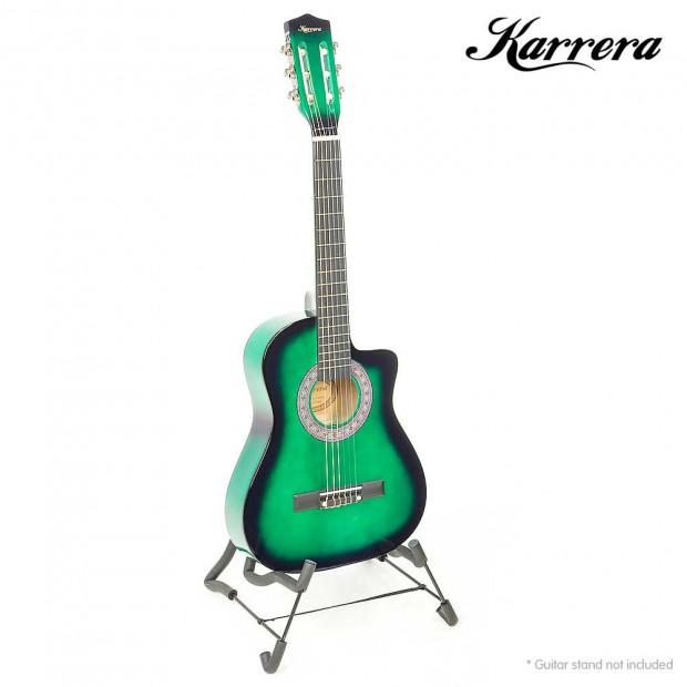 Karrera Childrens acoustic guitar - Green