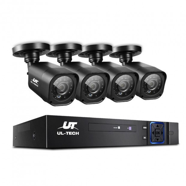 UL-TECH 4CH 5 IN 1 DVR CCTV Security System Video Recorder 4 Cameras Image 1
