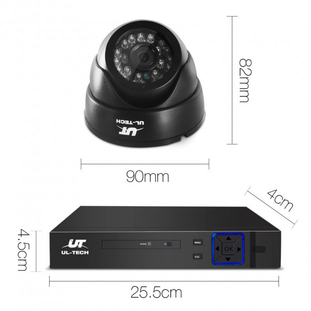 UL-Tech CCTV Security System 2TB 8CH DVR 1080P 4 Camera Sets Image 2