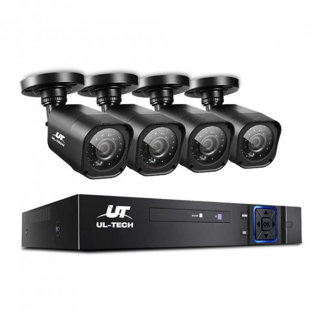 UL-TECH 8CH 5 IN 1 DVR CCTV Video Recorder  4 Cameras 1080P HDMI Black