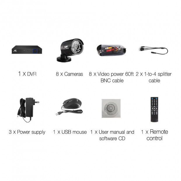 1080P Eight Channel HDMI CCTV Security Camera Image 2