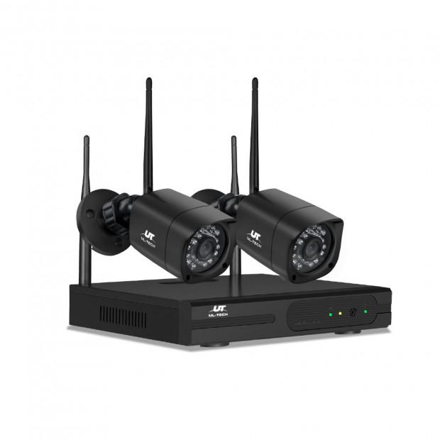 UL-TECH 1080P 4CH NVR Wireless 2 Security Cameras Set