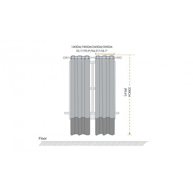 2x 100% Blockout Curtains Panels 3 Layers Eyelet Black 240x230cm Image 5