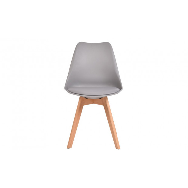 4 X Retro Replica Eames Pu Leather Padded Seat Chair Grey Image 2