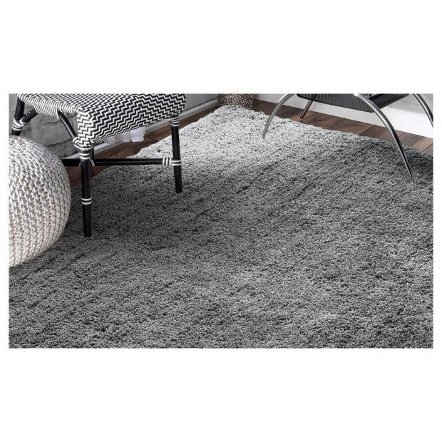 Luxury Soft Plush Thick Rectangle Shaggy Floor Rug Charcoal 160x225cm