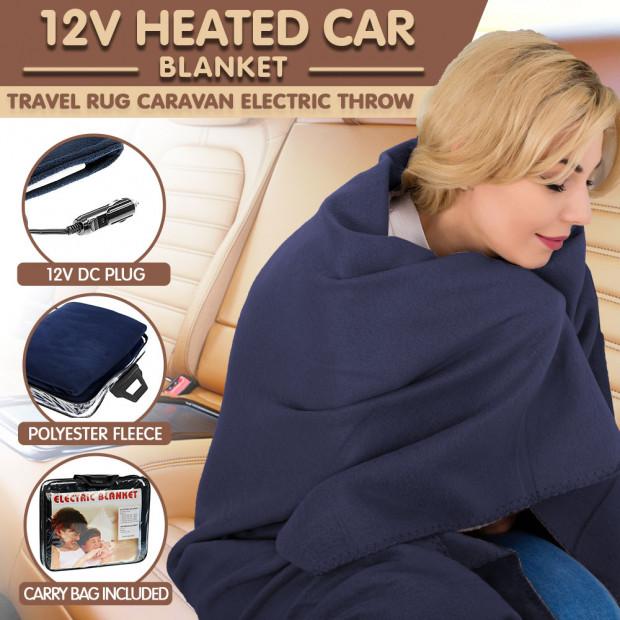 Electric Heated Car Blanket - 12v