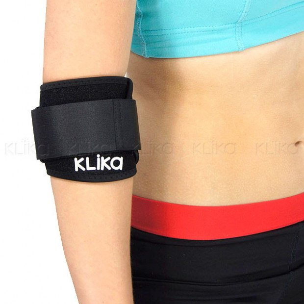 Tennis elbow sports injury compression support