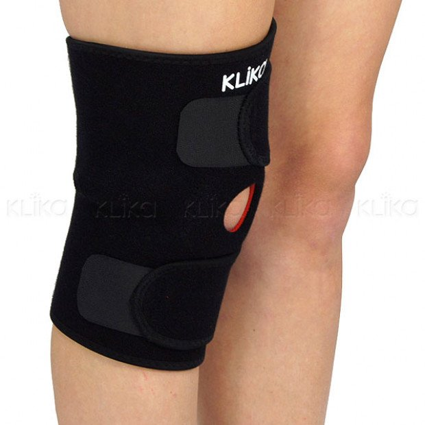 Knee sports injury compression support