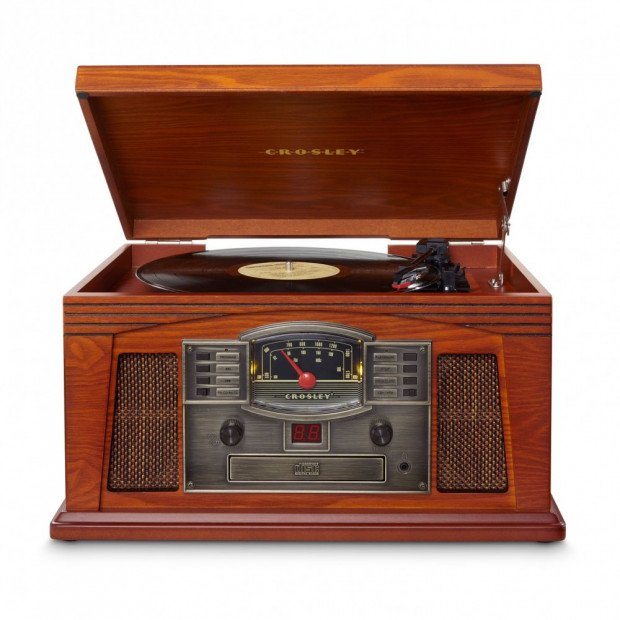 Crosley Lancaster Record Turntable and CD player- Paprika
