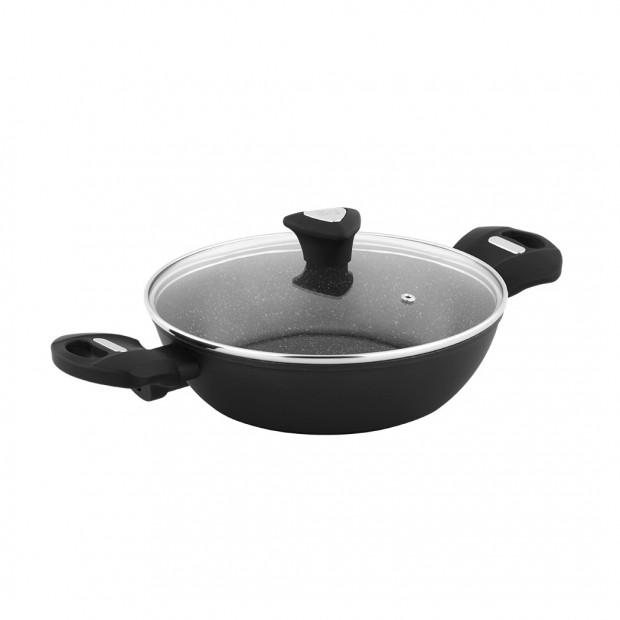 Marburg Forged Deep Fry Pan 24x6.5cm Xylan Non Stick Coatin