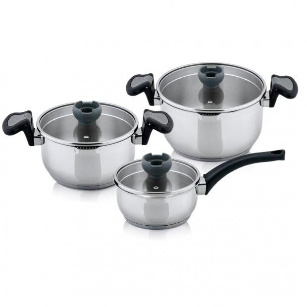 Aron 6pcs Non-stick Casserole Insulated Saucepan Stock Pot Image 1