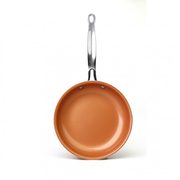 3pcs Ceramic Copper Non-stick Frying PanFry Pan Cookware Image 3