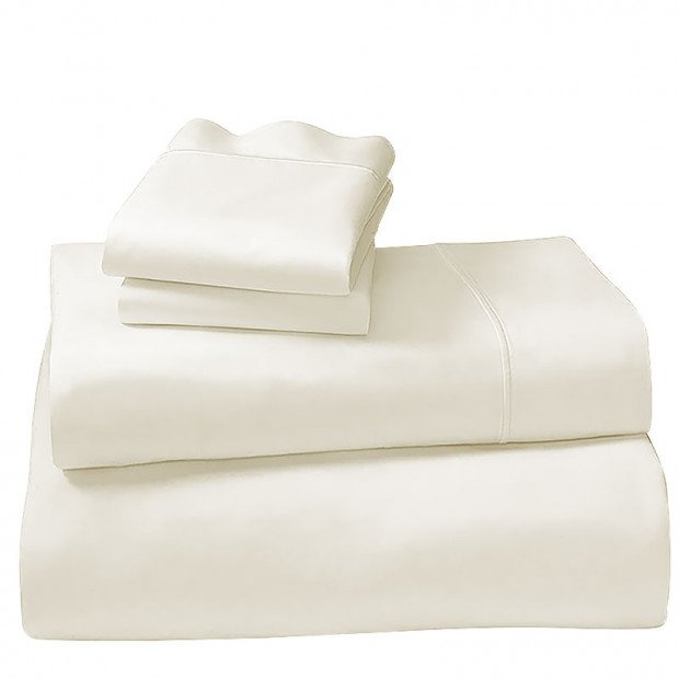 1000tc Cotton Rich King Sheet Set - Ivory White