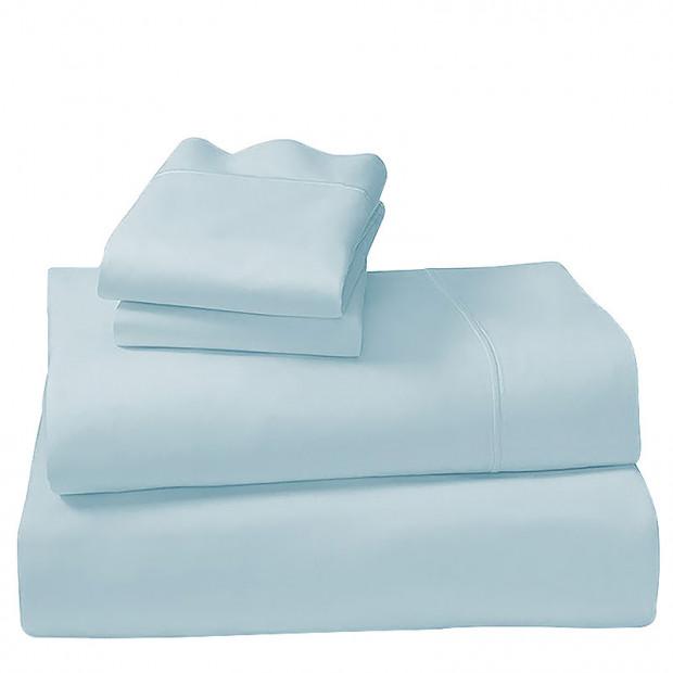 1000tc Cotton Rich Queen Sheet Set - Pastel Blue