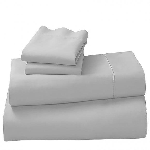 1000tc Cotton Rich King Sheet Set - Silver
