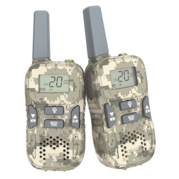 Crystal Mobile - 0.3W Handheld UHF CB Radio Rechargeable Twin Pack
