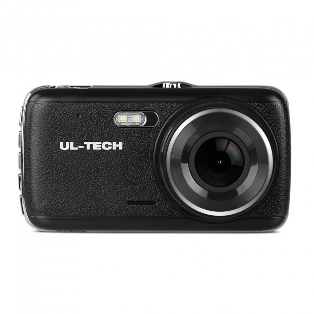 UL Tech 4 Inch Dual Camera Dash Camera - Black Image 2