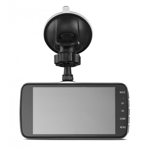 UL Tech 4 Inch Dual Camera Dash Camera - Black Image 5