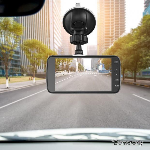 UL Tech 4 Inch Dual Camera Dash Camera - Black Image 9