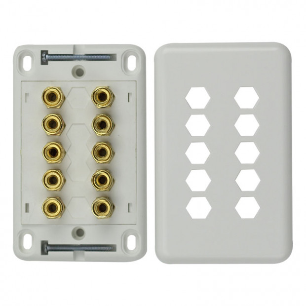 5 Speaker Wall Plate Ideal for 5.1 Home Theatre System