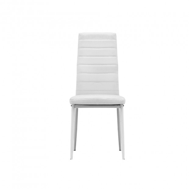 5 Piece Dining Table Chair Set - White Image 3
