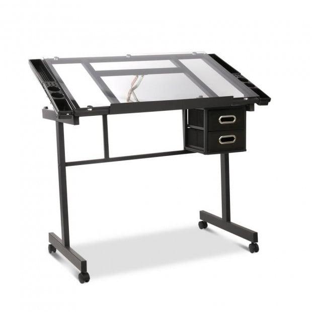 Adjustable Drawing Desk - Black and Grey