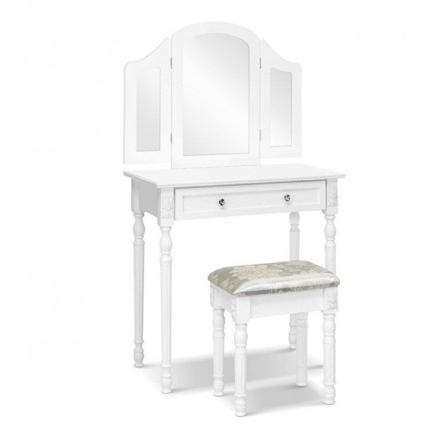 Dressing Table Stool Mirror White Mirrors Tables Jewellery Cabinet Box