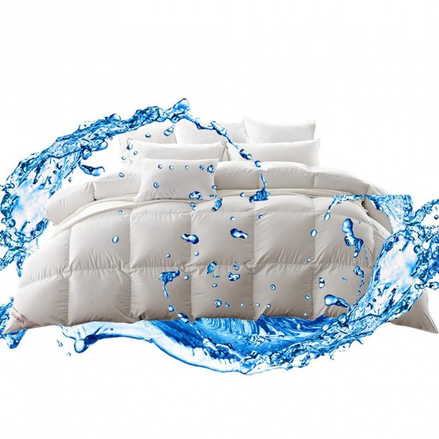 500gsm Goose Down Feather Duvet Quilt All Season Queen Size Image 2