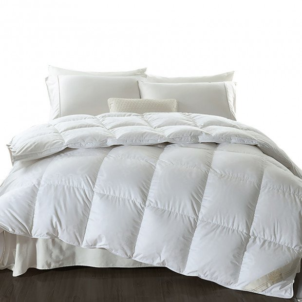 500gsm Goose Down Feather Duvet Quilt All Season Queen Size Image 1