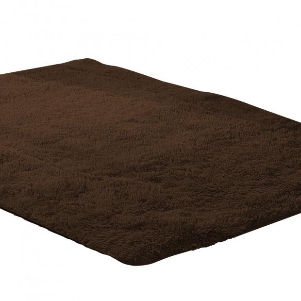 New Designer Shaggy Floor Confetti Rug 160x230cm - Coffee
