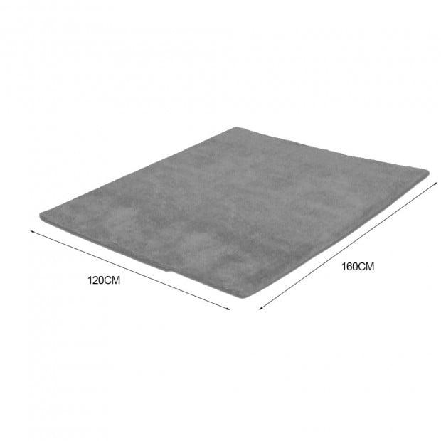 New Designer Shaggy Floor Confetti Rug Grey 120x160cm Image 4