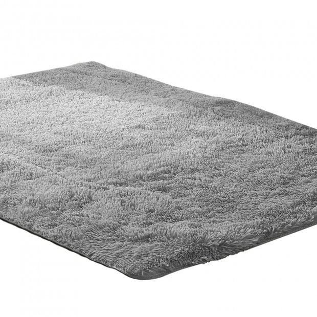 New Designer Shaggy Floor Confetti Rug Grey 120x160cm Image 1