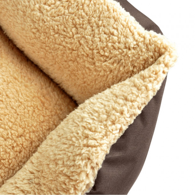 Deluxe Soft Washable Dog Cat Pet Warm Basket Bed Brown Xl Image 4