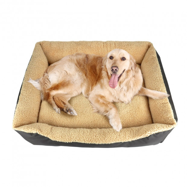 Deluxe Soft Washable Dog Cat Pet Warm Basket Bed Brown Xl Image 1